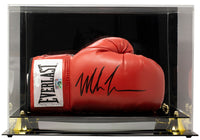 Mike Tyson Signed Right Red Everlast Boxing Glove w/Case JSA ITP