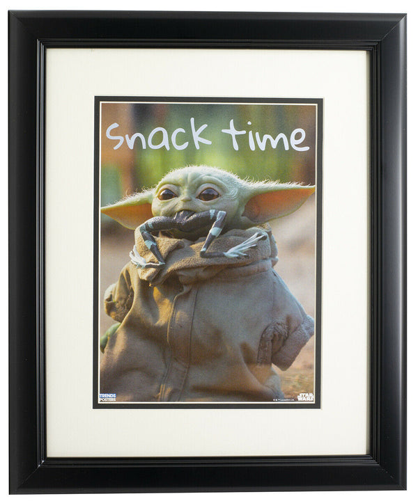 Baby Yoda The Mandalorian Framed 8x10 Snack Time Photo