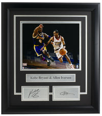 Kobe Bryant & Allen Iverson Framed 8x10 Photo w/Laser Engraved Signature