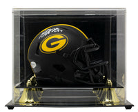 Davante Adams Signed Green Bay Packers Mini Spd Rep Eclipse Helmet wCase BAS ITP