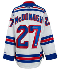 Ryan McDonagh Signed New York Rangers White Reebok Hockey Jersey Fanatics