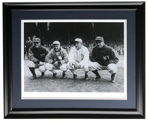 Babe Ruth Lou Gehrig Golden Age Framed 16x22 Historical Archive Giclee