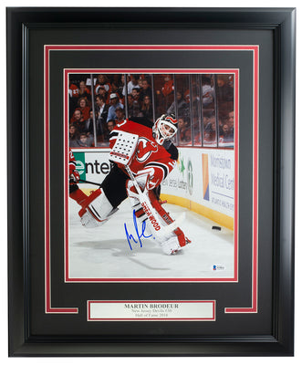 Martin Brodeur Signed Framed New Jersey Devils 11x14 Hockey Photo BAS