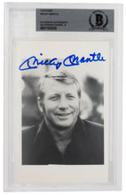 Mickey Mantle Signed Slabbed New York Yankees Post Card Photo BGS Au9