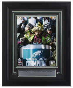 Jason Kelce Framed 8x10 Eagles Super Bowl 52 LII Parade Speech Photofile Photo