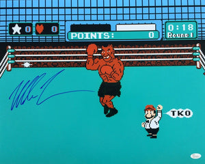 Mike Tyson Signed Boxing 16x20 Punch Out Photo JSA