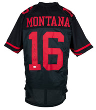 Joe Montana Signed Custom Black Pro Style Football Jersey JSA ITP