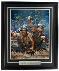Triple H & Shawn Michaels Signed Framed WWE 16x20 Photo BAS ITP