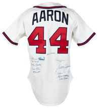 500 Home Run Club Multi Signed 11 Sig Braves Hank Aaron Rawlings Jersey BAS LOA - Sports Integrity