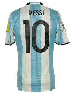 Lionel Messi 2018 Game Used Argentina WC Qualifier Jersey 100% Authentic LOA