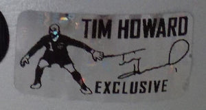 Tim Howard Everton FC Game Issued & Signed Silver Nike Cleats JSA+Howard Holo