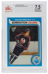 Wayne Gretzky 1979-80 Topps #18 Oilers Hockey Card BGS Near Mint+ 7.5