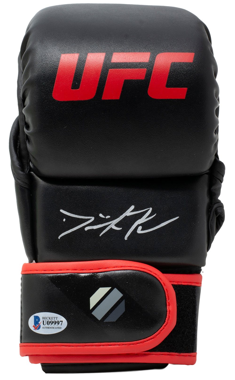 Dominick Reyes Signed Black Right UFC MMA Sparring Glove BAS