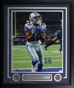 Amari Cooper Signed Framed Dallas Cowboys 16x20 Touchdown Photo JSA