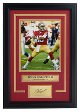 Jimmy Garoppolo Framed 49ers 8x10 Photo w/ Laser Engraved Autograph