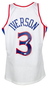 Allen Iverson Signed White Mitchell & Ness 1996-97 76ers Jersey JSA