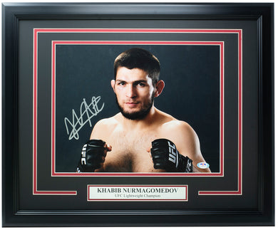 Khabib Nurmagomedov Signed Framed 11x14 UFC Photo PSA/DNA AH66730