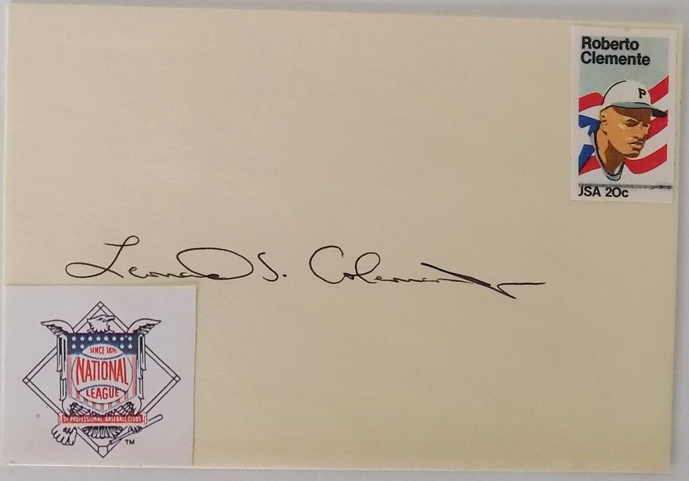 Leonard Coleman  National League President Signed Envelope