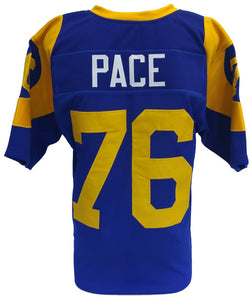 Orlando Pace Unsigned Custom Blue Pro Style Football Jersey Size XL