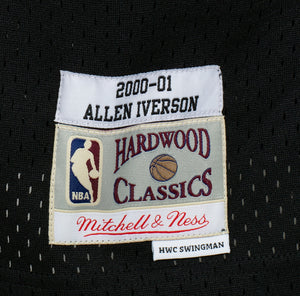 Allen Iverson Signed Black Mitchell & Ness 2000-01 76ers Jersey JSA
