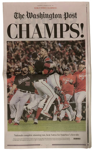 Washington Nationals World Series Champions 10/30 Washington Post Full Newspaper