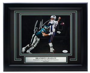 Brandon Graham Eagles Signed Framed 8x10 SB Spotlight Photo JSA