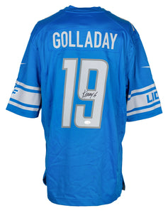 Kenny Golladay Signed Blue Lions Nike Licensed Football Jersey JSA ITP