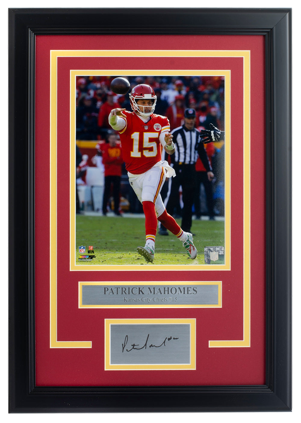 Patrick Mahomes Framed 8x10 Chiefs Photo w/ Laser Engraved Signature