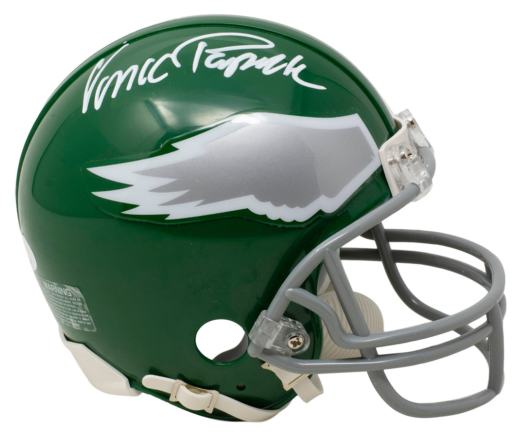 Vince Papale Signed Philadelphia Eagles Kelly Grn Mini Helmet JSA ITP