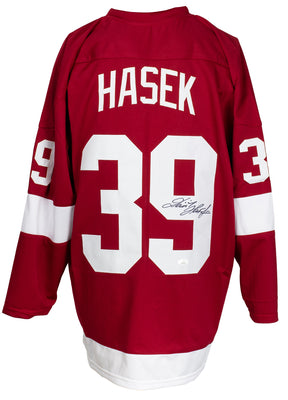 Dominik Hasek Signed Custom Red Pro Style Hockey Jersey JSA ITP