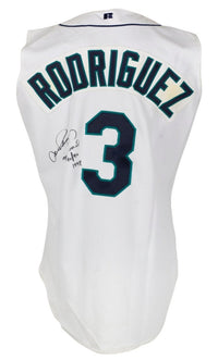 Alex Rodriguez Signed Game Used 1998 Seattle Mariners Home Vest Mill Creek LOA - Sports Integrity