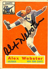 Alex Webster Signed New York Giants Topps #5 Football Card JSA - Sports Integrity