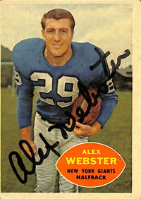 Alex Webster Signed New York Giants Topps #5 Football Card JSA M43685 - Sports Integrity