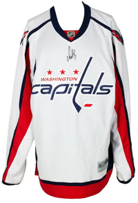 Alexander Ovechkin Signed Washington Capitals White Reebok Hockey Jersey BAS - Sports Integrity