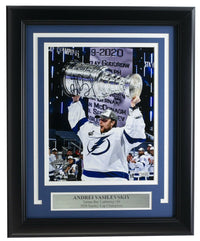 Andrei Vasilevskiy Signed Framed 8x10 Lightning Stanley Cup Photo Fanatics - Sports Integrity
