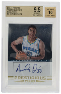 Anthony Davis Signed 2012-13 Prestige Picks #45 Pelicans Card BGS GM 9.5 Auto 10 - Sports Integrity