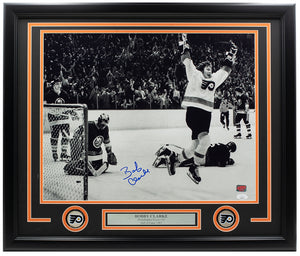 Bobby Clarke Signed Framed 16x20 Philadelphia Flyers Goal Photo JSA