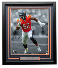 Khalil Mack Signed Framed Chicago Bears 16x20 Photo BAS