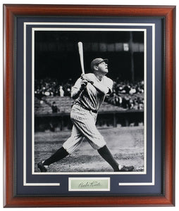 Babe Ruth Framed 16x20 New York Yankees Photo w/ Laser Engraved Signature - Sports Integrity