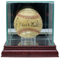 Babe Ruth Signed 1938 Yankees AL Baseball w/Case PSA/DNA LOA K78140 - Sports Integrity