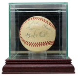 Babe Ruth Signed 1946-47 American League Baseball w/Case PSA AH011340 - Sports Integrity