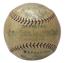 Babe Ruth Signed AL Baseball w/ Glass Display Case PSA/DNA LOA AH41288 - Sports Integrity