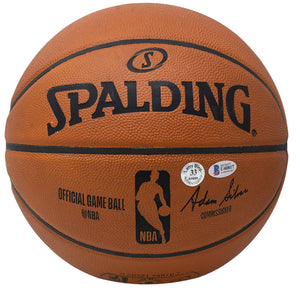Larry Bird Signed Spalding Official Game Basketball Bird Hologram BAS