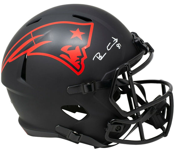 Ben Coates Signed Patriots Full Size Speed Replica Eclipse Helmet JSA - Sports Integrity