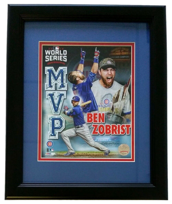 Ben Zobrist Framed 8x10 Chicago Cubs 2016 World Series MVP Collage Photo - Sports Integrity