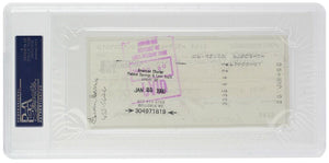 Bob Gibson Signed Slabbed Cardinals Personal Bank Check #3975 PSA/DNA - Sports Integrity