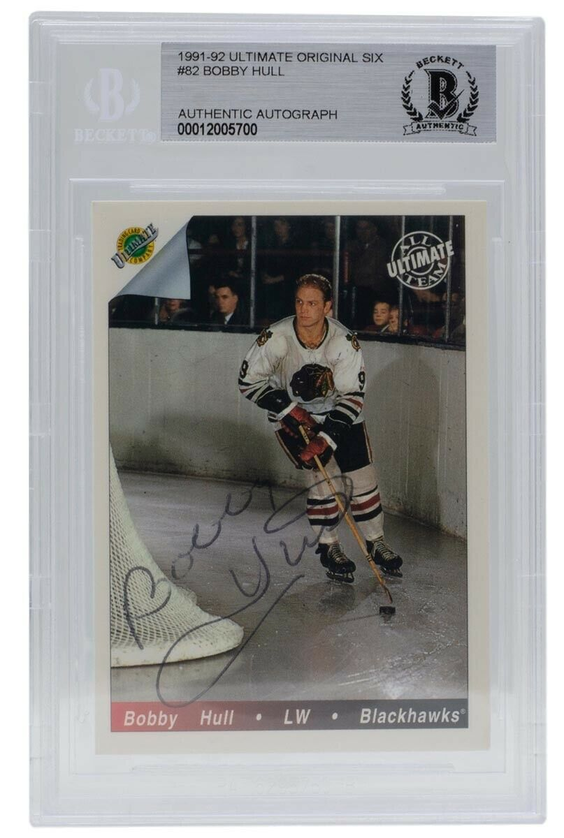 Bobby Hull Blackhawks Signed 1991-92 Ultimate Original Six 82 Card BAS - Sports Integrity