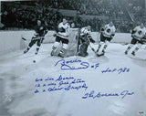 Bobby Hull Chicago Blackhawks Signed 16x20 Photo B&W 5x Inscribed PSA - Sports Integrity
