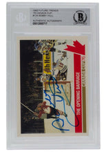 Bobby Hull Signed 1992 Future Trends '76 Canada Cup #124 Card BAS - Sports Integrity
