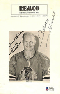 Bobby Hull Signed Chicago Blackhawks Photo BAS - Sports Integrity